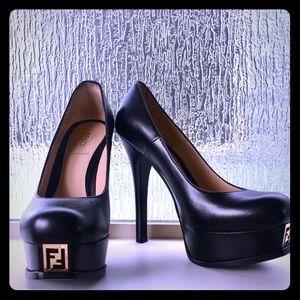 "FENDI "" Fendista"" Platform Heels size 37.5"